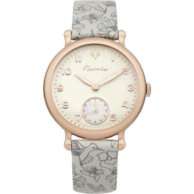 Ladies House Of Florrie Violet Printed Watch HF005VRG