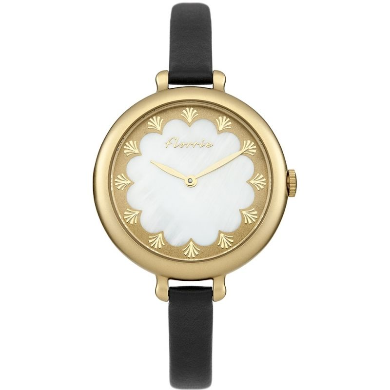 Ladies House Of Florrie Pearl Scalloped Watch HF006BG