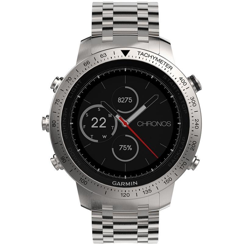 Mens Garmin Fenix Chronos Bluetooth GPS HR Alarm Chronograph Watch