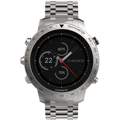 Mens Garmin Fenix Chronos Bluetooth GPS HR Alarm Chronograph Watch 010-01957-02