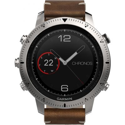 Garmin Fenix Chronos Bluetooth GPS HR Herrenchronograph in Braun 010-01957-00
