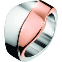 Ladies Calvin Klein Two-Tone Steel and Rose Plate Medium Senses Bico Bangle KJ5EPD20010M