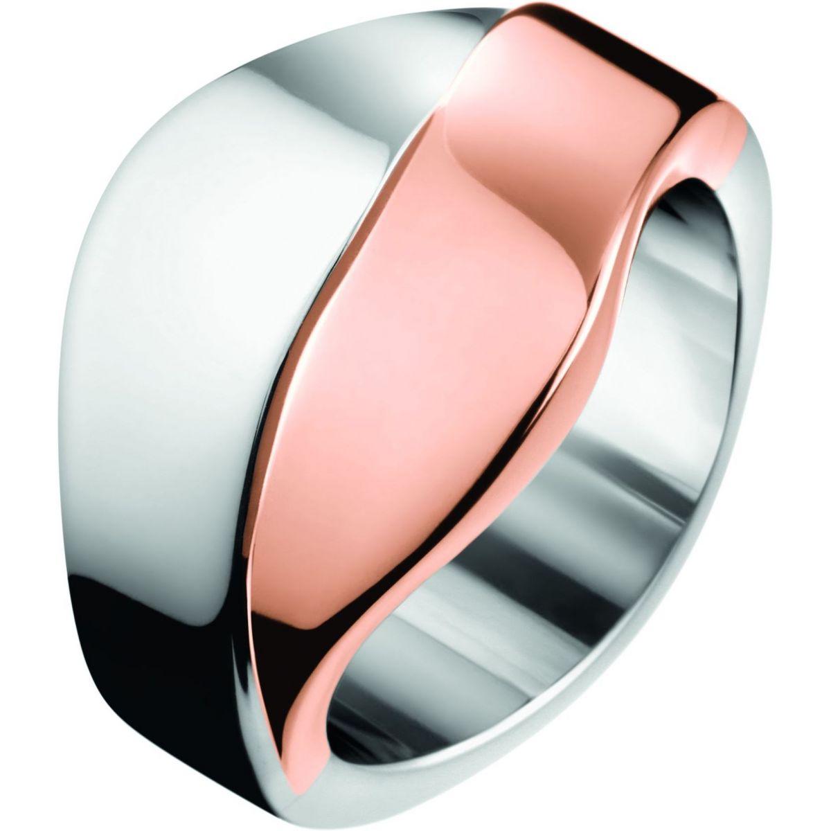 Ladies Calvin Klein Jewellery Stainless Steel Senses Bico Ring ...