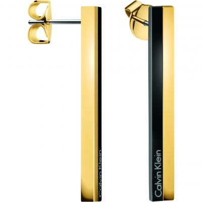 Ladies Calvin Klein Two-tone steel/gold plate Gorg Bico Earrings KJ5VBE200100