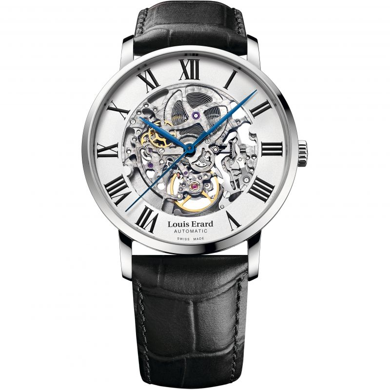 Mens Louis Erard Excellence Skeleton Automatic Watch