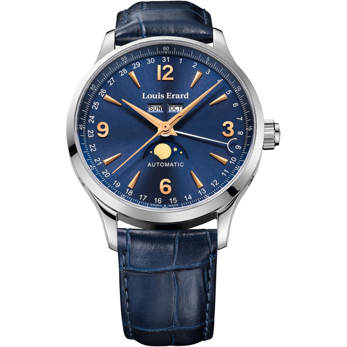 calendar moonphase mens exclusive watch annual gents louis watches automatic erard