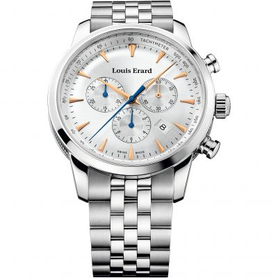 Mens Louis Erard Heritage Chronograph Watch 13900AA11.BMA38