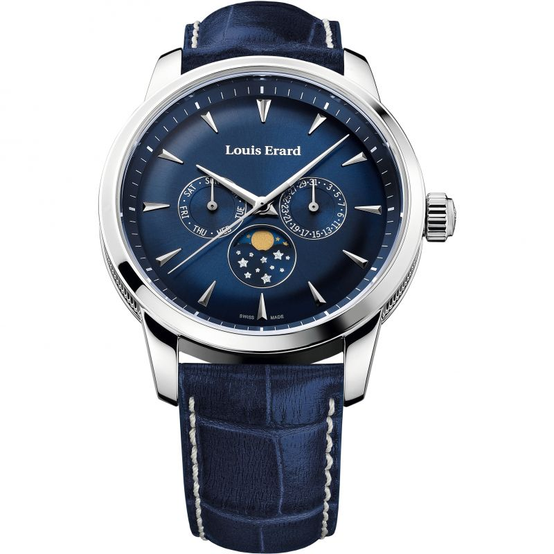 Mens Louis Erard Heritage Day Date Moonphase Watch