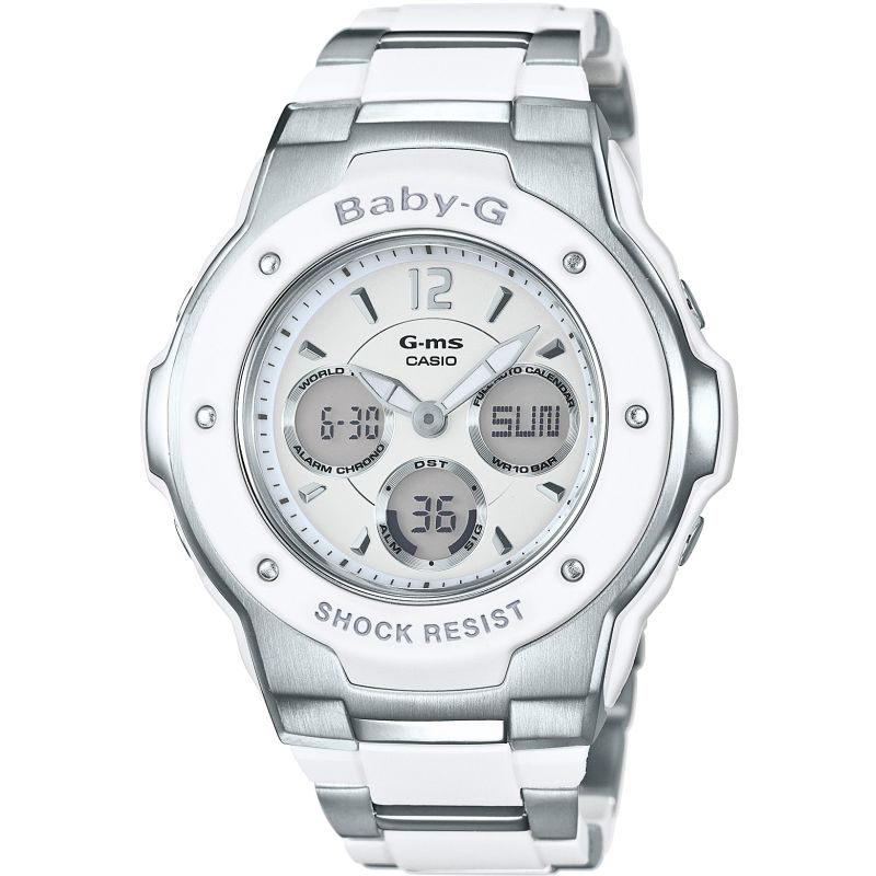Ladies Casio Baby-G Alarm Chronograph Watch MSG-300C-7B3ER