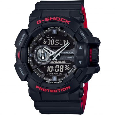 Mens Casio G-Shock Alarm Chronograph Watch GA-400HR-1AER