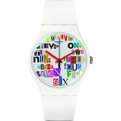 Swatch Multi Collage Unisex horloge Wit SUOW132