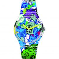 Unisex Swatch Wall Paint Watch