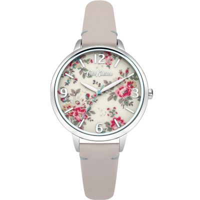 Cath Kidston Kingswood Rose Nude Leather Strap Dameshorloge Creme CKL001PS