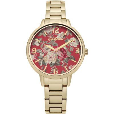 Ladies Cath Kidston Garden Rose Gold Bracelet Watch CKL001GM
