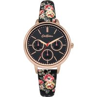 Cath Kidston Kingswood Rose Charcoal Strap Multifunction WATCH