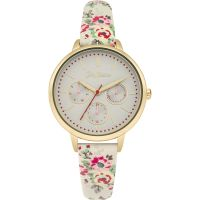 Cath Kidston Kingswood Rose Ivory Strap Multifunction WATCH