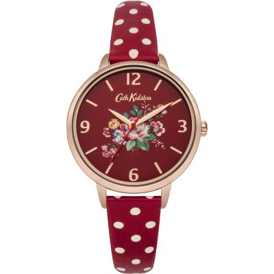 Ladies Cath Kidston Briar Rose Red Polka Dot Strap Watch CKL004RRG