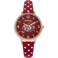Cath Kidston Briar Rose Red Polka Dot Strap WATCH