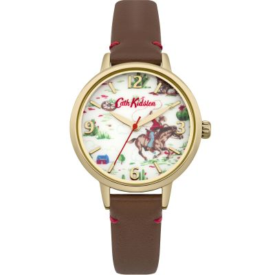 Zegarek damski Cath Kidston Cowboy Brown Leather Strap CKL006TG
