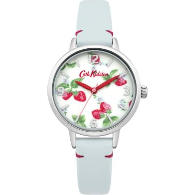 Montre Femme Cath Kidston Strawberries Light Blue Leather Strap CKL006WUS