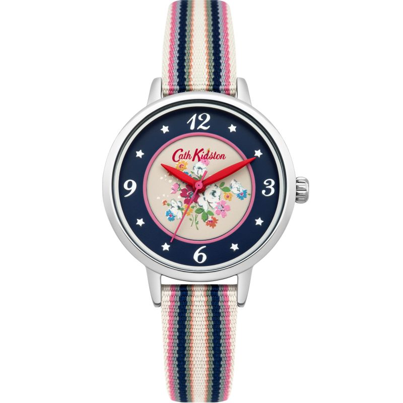 Ladies Cath Kidston Clifton Rose Woven Strap Watch CKL007US