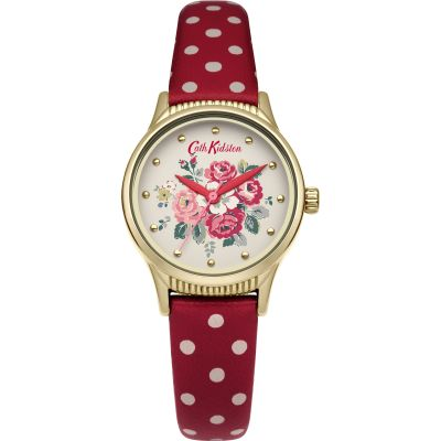 Cath Kidston Forest Bunch Red Spot Strap Damenuhr in Zweifarbig CKL012RG
