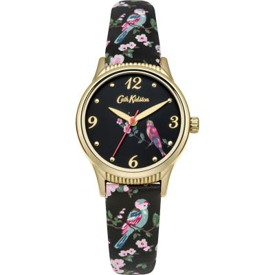 Ladies Cath Kidston British Birds Charcoal Strap Watch CKL013BG