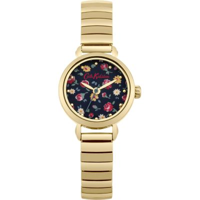 Cath Kidston Little Flower Buds Gold Expander Damenuhr in Gold CKL016GM