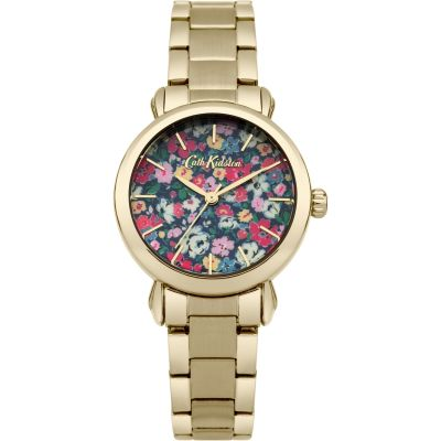 Ladies Cath Kidston Mews Ditsy Gold Bracelet Watch CKL018GM