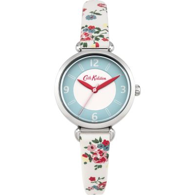Ladies Cath Kidston Kew Sprig Stone Strap T-Bar Watch CKL020CS