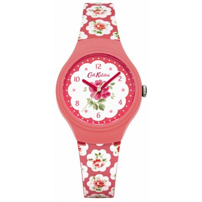 Ladies Cath Kidston Provence Rose Red Silicone Strap Watch CKL025P