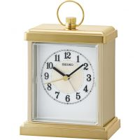 Seiko Clocks Carriage Mantel Alarm Clock QHE148G