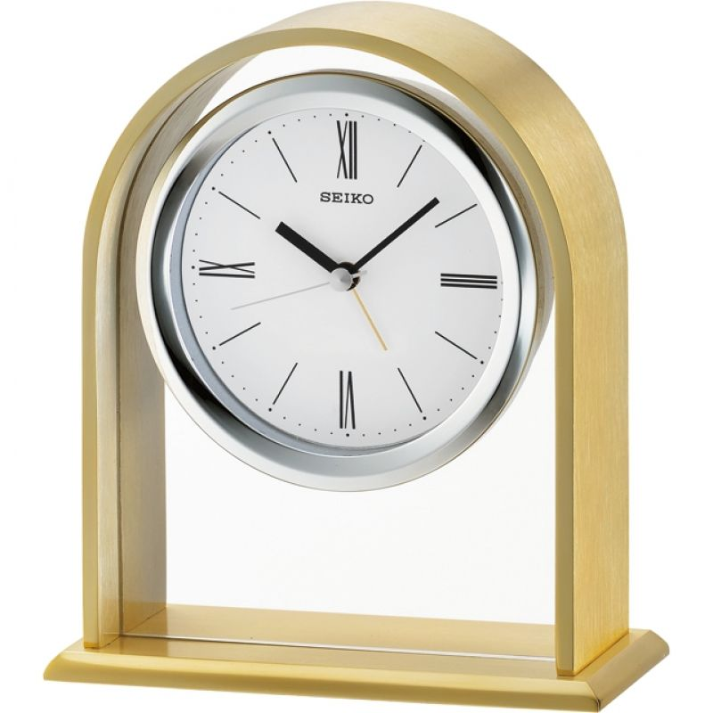 Seiko Clocks Mantel Alarm Clock QHE134F