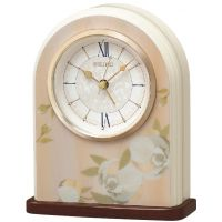 Seiko Clocks Floral Mantel Alarm Clock