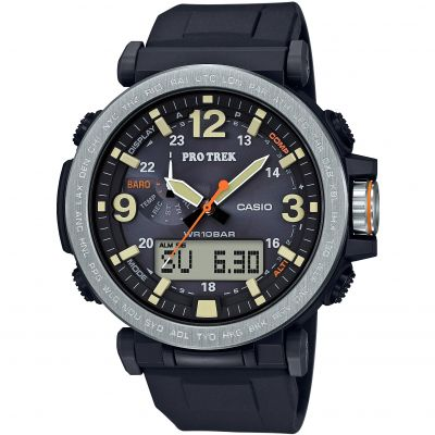 Casio Altimeter, Barometer, Thermometer, Digital Compass Pro-Trek Herrenchronograph in Schwarz PRG-600-1ER
