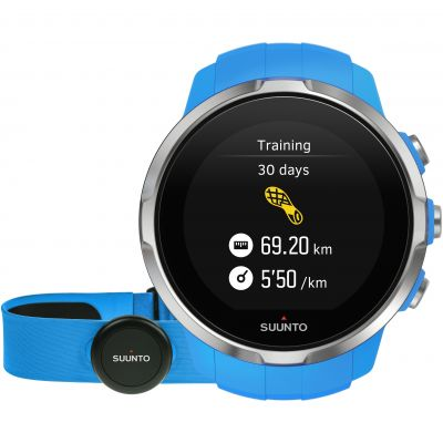 Unisex Suunto Spartan Sport Bluetooth Blue HR bundle Alarm Chronograph Watch SS022652000