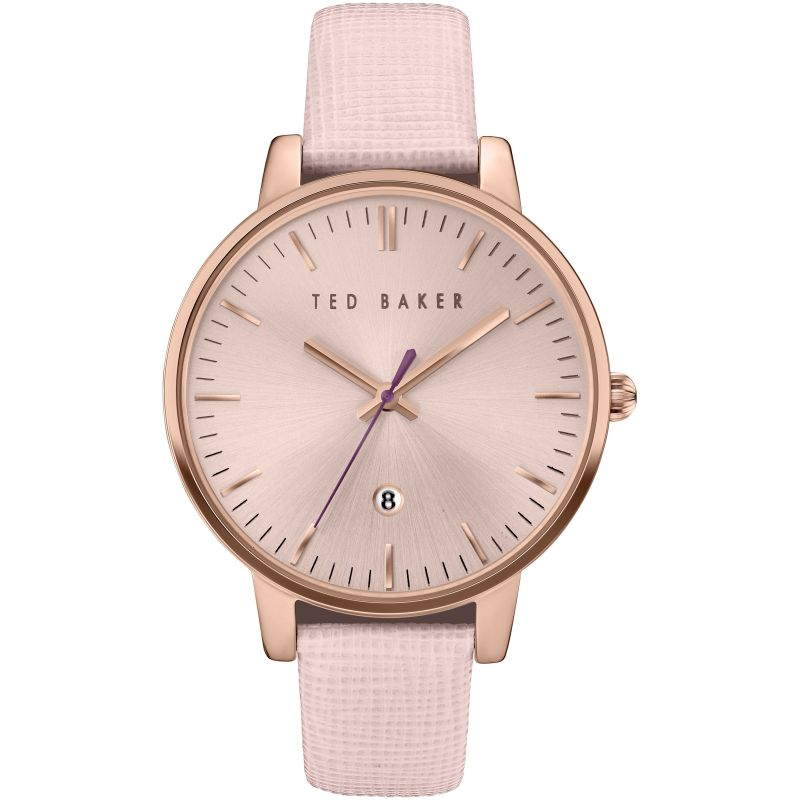 Ladies Ted Baker Kate Saffiano Leather Strap Watch