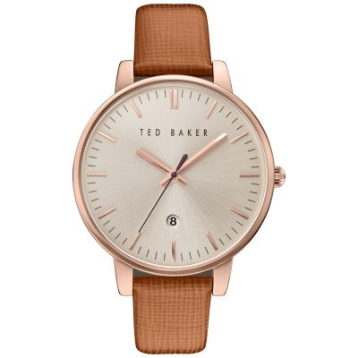 Ted Baker Kate Saffiano Leather Strap Damenuhr in Braun TE10030738