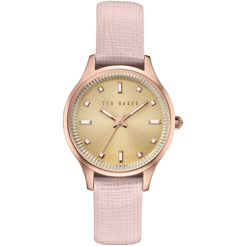 Ladies Ted Baker Zoe Saffiano Leather Strap Watch