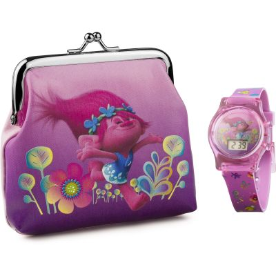 Childrens Character Trolls Gift Set Watch TROL4