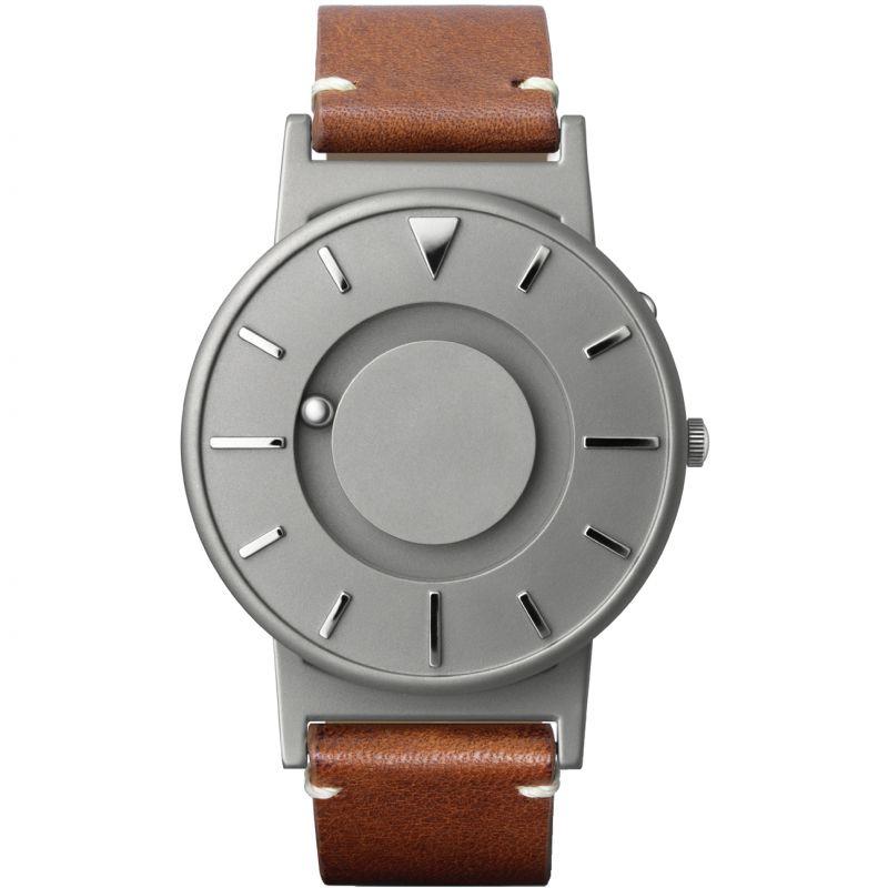 Unisex Eone The Bradley Classic Cognac Leather Strap Titanium Watch