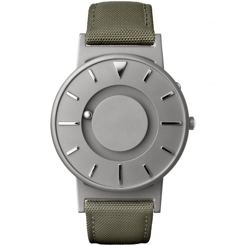 Unisex Eone The Bradley Canvas Olive Green Strap Titanium Watch
