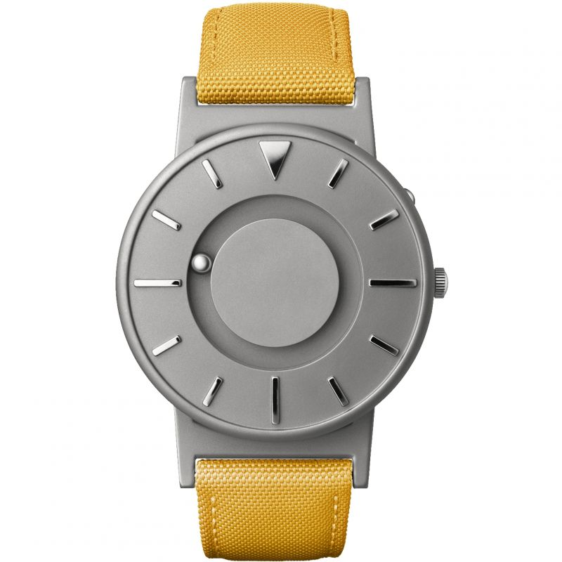 Unisex Eone The Bradley Canvas Mustard Yellow Strap Titanium Watch