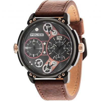 Montre Homme Police Steampunk 14693JSB/12A
