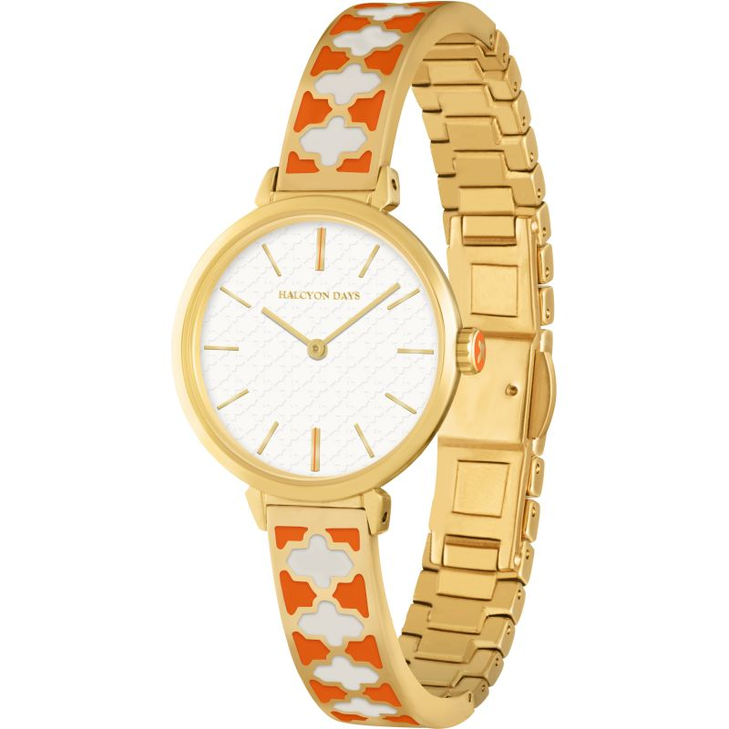Agama Bangle Orange & Gold Watch