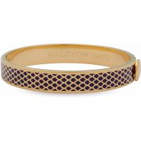 Ladies Halcyon Days Gold Plated Salamander Bangle HBSAL0210G