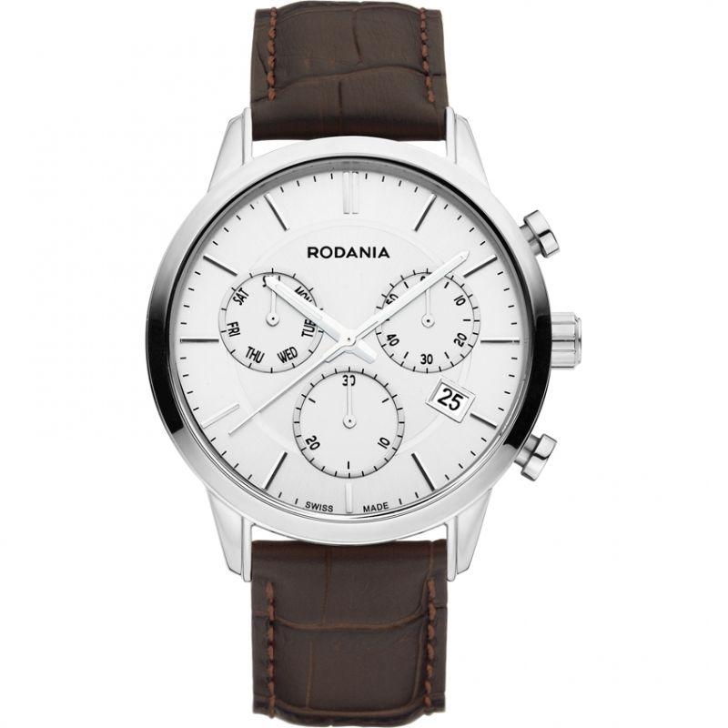 Mens Rodania Swiss Ontario Gents strap Chronograph Watch