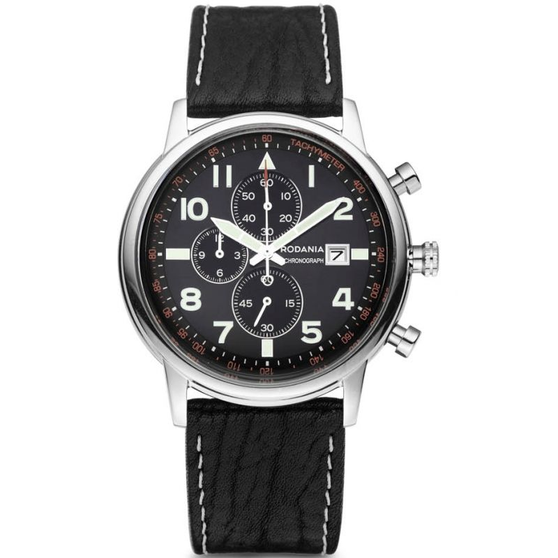 Mens Rodania Aero Gents strap Chronograph Watch