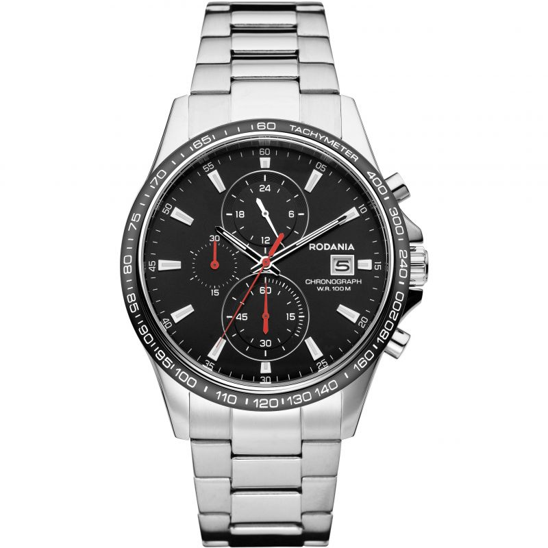 Mens Rodania Dakar Gents Bracelet Chronograph Watch
