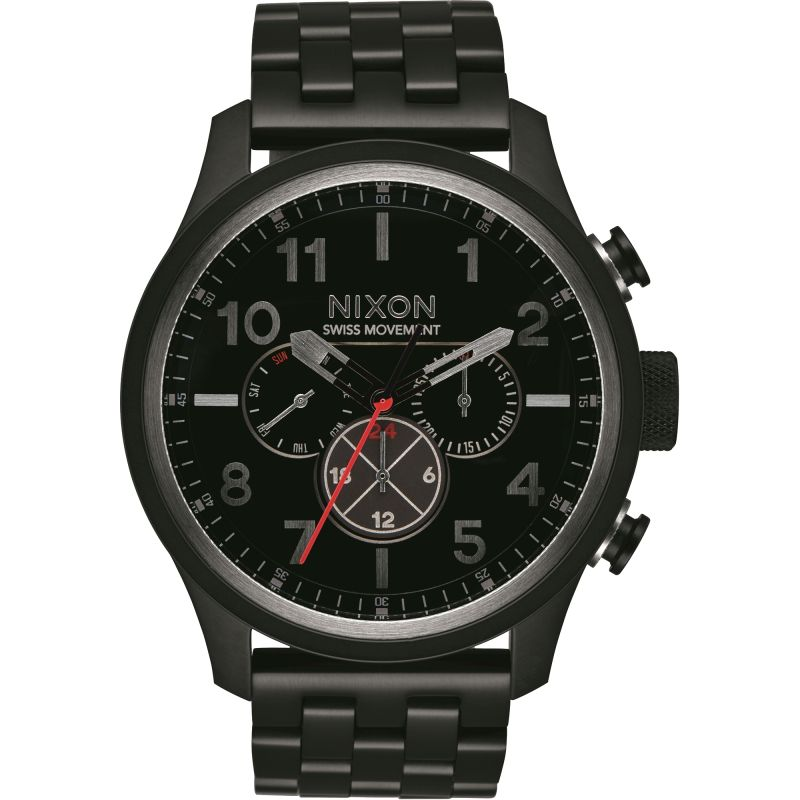 Mens Nixon The Safari Dual Time Watch A1081-001